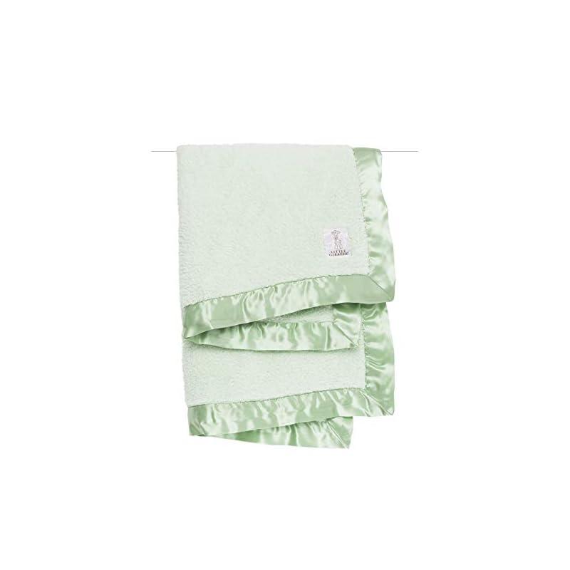 "crib bedding and baby bedding little giraffe chenille stroller baby blanket, celadon, 29"" x 35"""