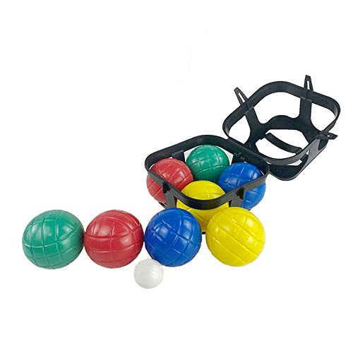DRAROAD Bocce Balls Set, Outdoor Family Bocce Game for Beach, Backyard Lawn or Party Game Set of 8 Balls & 1 Pallino