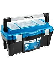 HÖGERT HT7G064 gereedschapskist, blauw/zwart, 52 × 28 × 28 cm