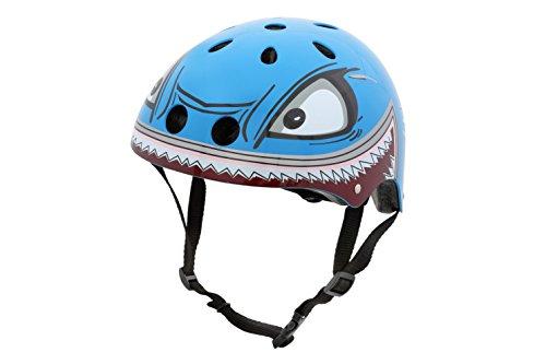 hornit Kinderhelm Fahrradhelm für Mädchen und Jungs Herren und Damen - Komplett einstellbar - LED Rücklicht - Für Fahrrad, BMX, Go-Kart, Scooter oder Skateboard - (Small, Shark)