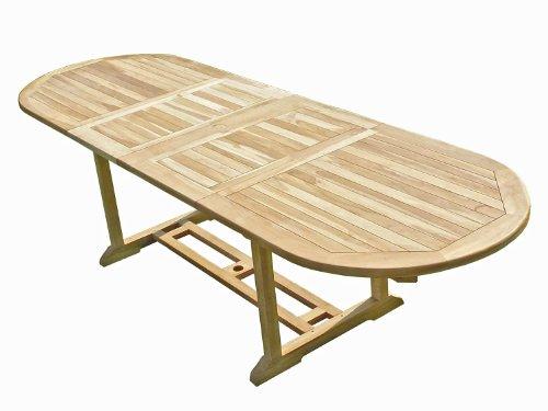 Confort & Loisirs Table de Jardin en Teck HENUA 10/12 Places