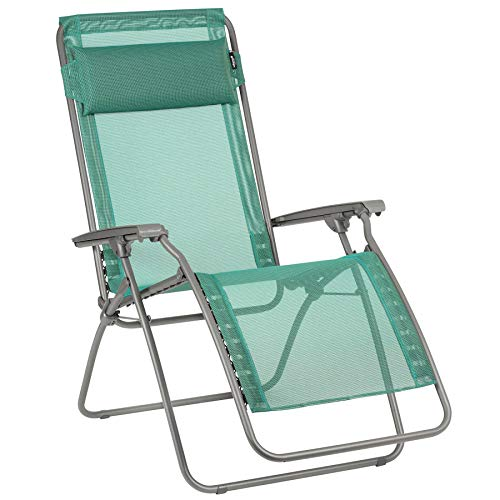 Lafuma R-Clip Batyline Iso Relaxation Patio and Poolside Zero Gravity Outdoor Lounge Recliner, Chlorophylle