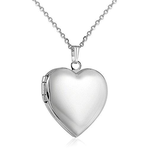 YOUFENG Jewellery Collar con Colgante de corazón Que Puede Contener imágenes y Collares, Ideal como Regalo para el día de la Madre o la Mujer
