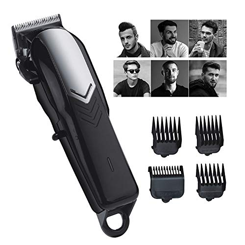 Hair Clipper/Trimmer Grasmaaier Haircutting Kit met 4 opzetkammen oplaadbare waterproof, Ultimate Man Hygiene Razor