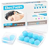 Reusable Silicone Ear Plugs, Waterproof Noise Cancelling Ear Plugs for Sleeping, Shooting, Airplanes, Concerts, Mowing, 22dB Highest NRR