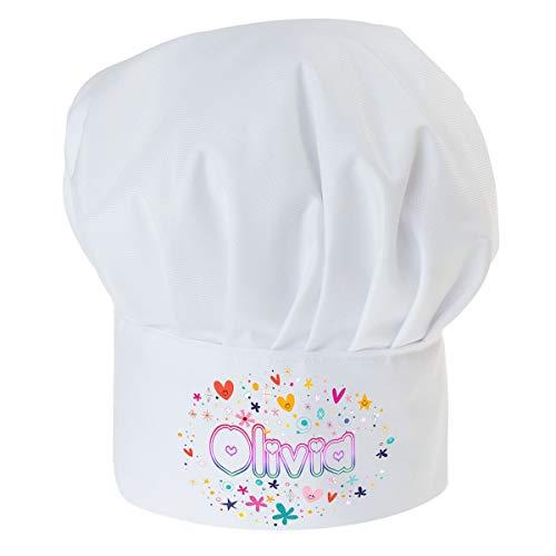 Gorro Cocinero para niños de niño Bebé de Cocina Ajustable con Velcro Gorro de Chef con Nombre/con Texto Dulce con Nombre [099]