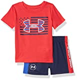 Under Armour Baby Boys' UA Flag Logo Set, Versa Red, 24M