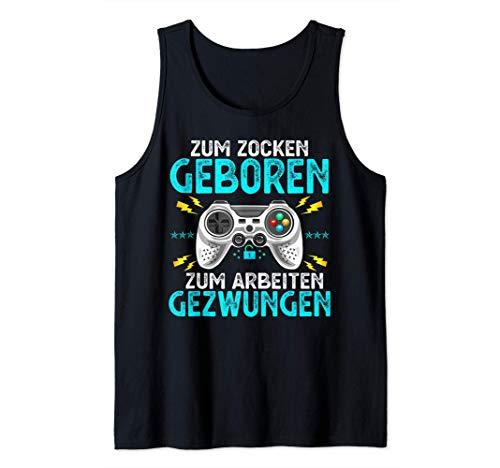 Gaming Zocken Konsole PS5 Geburtstag Gamer Geschenk Tank Top