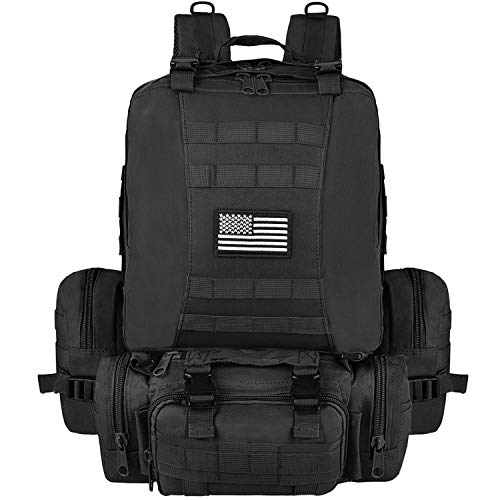 NOOLA Tactical Military Backpack Survival Army Rucksack Assault Pack Molle Bag