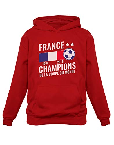Green Turtle T-Shirts Football Enfant Souvenir de la Coupe du Monde 2018 Sweatshirt Capuche Enfant 11/12A Rouge
