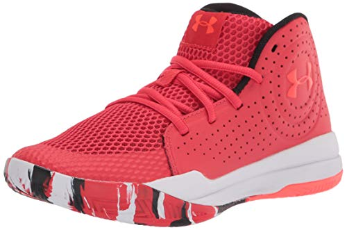 Under Armour Grade School Jet 2019, Zapatillas de Baloncesto, Versa Rojo/Blanco/Beta (602), 38 EU