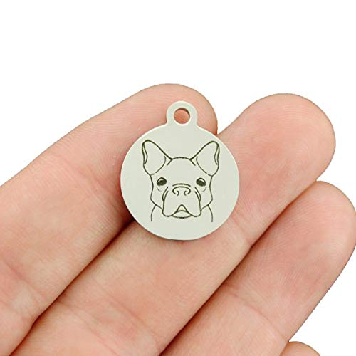 Dog Breed Stainless Steel Charms - French Bulldog - Exclusive Line - Quantity Options - BFS3859 Choose Quantity: 1 Charm