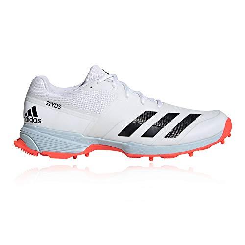 adidas Cricket-Spikes, 22 YDS – SS20., Weiß - weiß - Größe: 44 2/3 EU