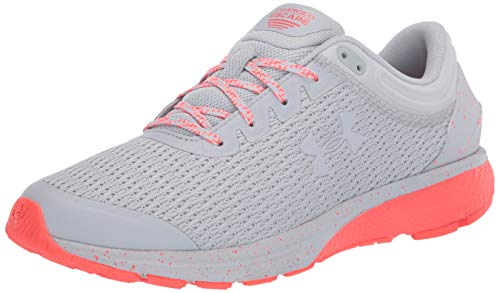 Under Armour Women's Charged Escape 3 Running Shoe, Halo Gray (106)/Beta, 9.5