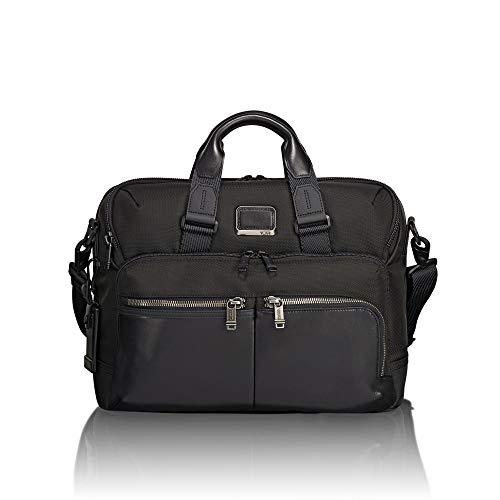 TUMI - Alpha Bravo Patterson Brief Laptop Briefcase - 15 Inch Computer Bag for Men and Women - Black