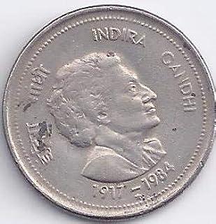 Sams Shopping Copper-Nickel indira gandhi commemorative , Multicolour