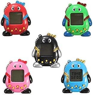 weep New Virtual Digital Electronic Pet Game Machine Cute Nostalgic Penguin-Shaped Electronic Pets Random Color, 1 Piece