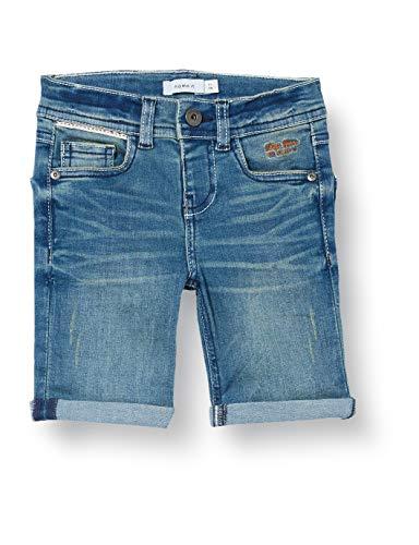 NAME IT NKMTHEO DNMTOMO 2309 Long Shorts Noos Short Vaquero, Medio De Mezclilla Azul, 134 cm para Niños