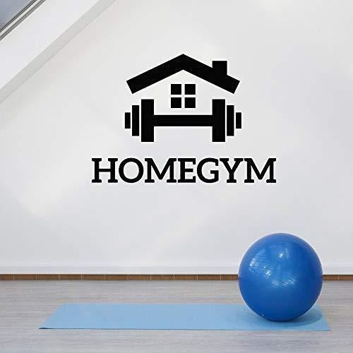 JXLLCD Home Gym Sign Vinilos Decorativos Vinyl Sports Gym Fitness Tatuajes de Pared Club Deportivo Decoración del hogar Diseño de Interiores Mural Wall Art Decoration 82X57 cm