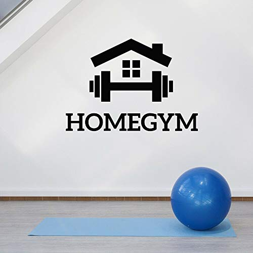 JXLLCD Home Gym Sign Vinilos Decorativos Vinyl Sports Gym Fitness Tatuajes de Pared Club Deportivo Decoración del hogar Diseño de Interiores Mural Wall Art Decoration 82X57 cm
