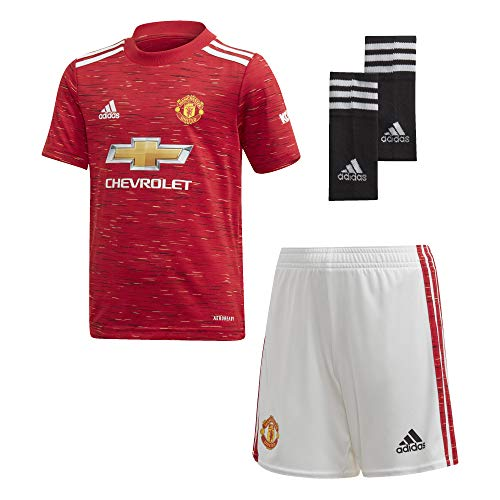 adidas Manchester United Temporada 2020/21 MUFC H Mini Conjunto Primera equipación, Unisex, rojrea, 110