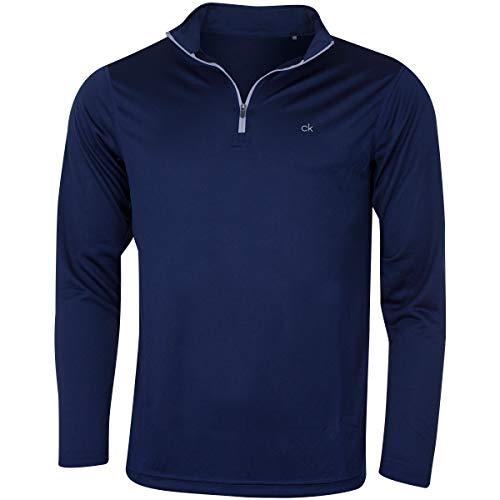 Calvin Klein Golf Herren Harlem 1/4 Zip Pullover - Marine - S