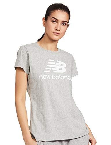 adidas Camiseta de Mujer Essentials Stacked Logo, Mujer, Camiseta, 690960, AG Athletic Gre, Size 94