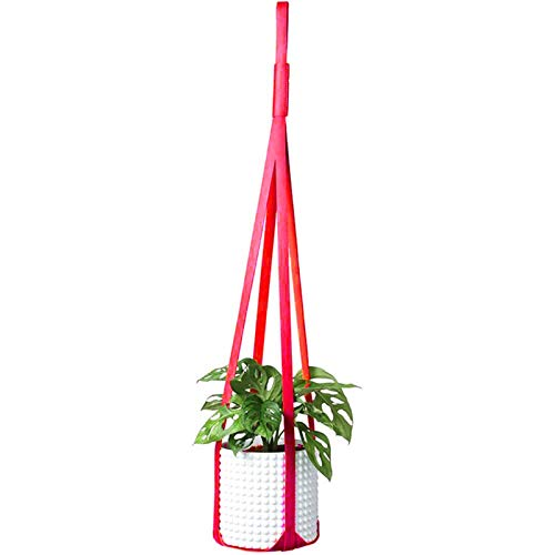 Blumentopf PU-Leder Pflanzenaufhänger...