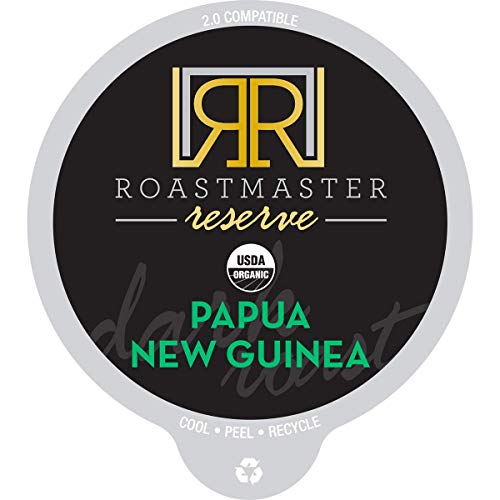 Roastmaster Reserve Organic Dark Roast Coffee (Papua New Guinea) – 22ct. Solar Energy Produced Limited Batch Single Origin Dark Roast Organic Coffee Pods - Recyclable Coffee Pods, K Cup Compatible