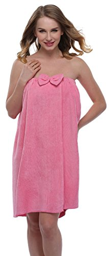 ExpressBuyNow Spa Bath Towel Wrap For Ladies , Rose , free size