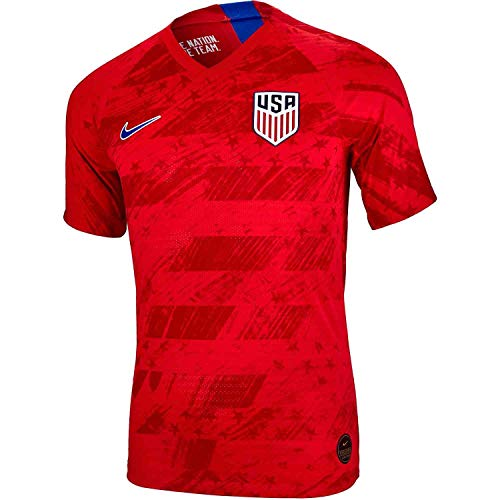 Nike 2019 Men's Authentic USA Vaporkit Away Match Jersey (Speed Red) (L)