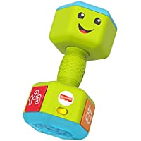 Fisher-Price Laugh & Learn Countin' Reps Dumbbell Rattle Toy