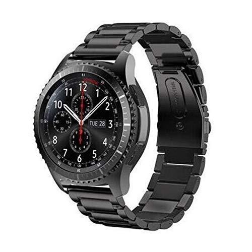 Gear S3 Frontier Correa compatible con Galaxy Watch 46 mm, correa GT de 2 mm, compatible con Galaxy Watch Active Correa de repuesto (color negro)