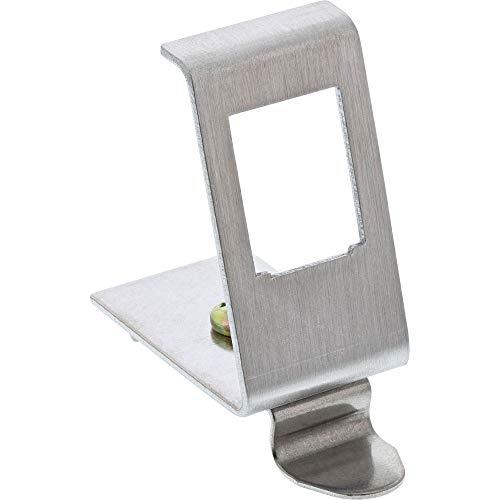 InLine 76203A Keystone SNAP-In Metall-Modulhalter, 1-fach für Hutschiene
