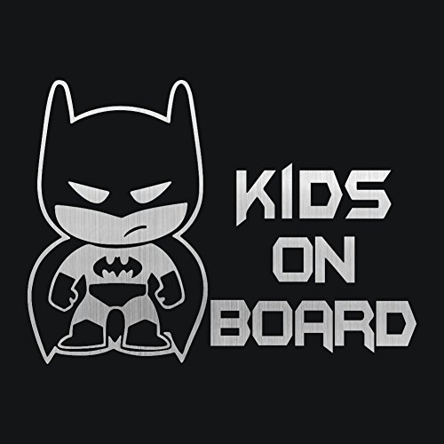 """vylymuses Batman Kids ON Board Stickers for Cars Funny Decals Safety Signs 7.48""""x5.51"""" Car Rear Window Door Body Decal Waterproof Reflective Vinyl Material Upgrade Self-Adhesive Car Decoration"""