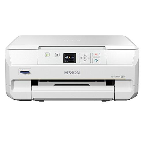EPSON インクジェット複合機 Colorio EP-707A 無線 スマートフォンプリント Wi-Fi Direct
