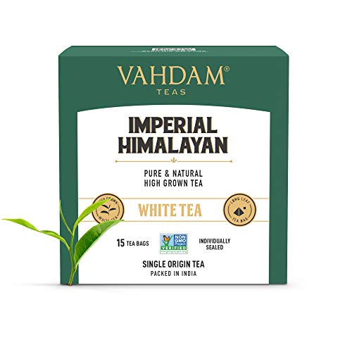 VAHDAM, Imperial Himalayan White Tea 15 Tea Bags, Long Leaf...