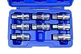 1/2-Inch Drive Jumbo Hex Bit Socket Set, S2 Steel   8-Piece Set   SAE & Metric …