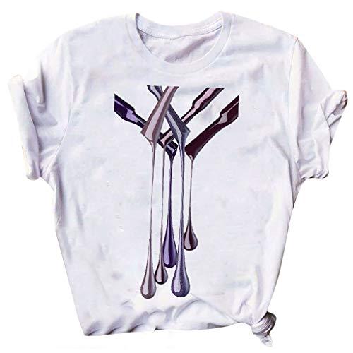 Best Deals! Camiseta De Verano De Cuello Redondo De Moda para Mujer Creative Hd 3D Print Tops Blusa ...