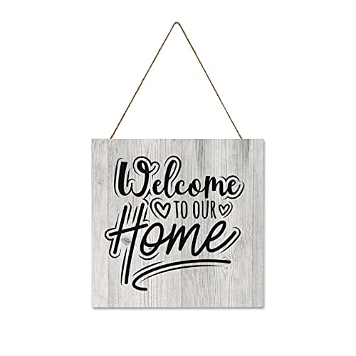by Unbranded Newly Wed Wedding Idea, Closing Welcome Sign, New Home, cartello da appendere in legno, 30 x 30 cm