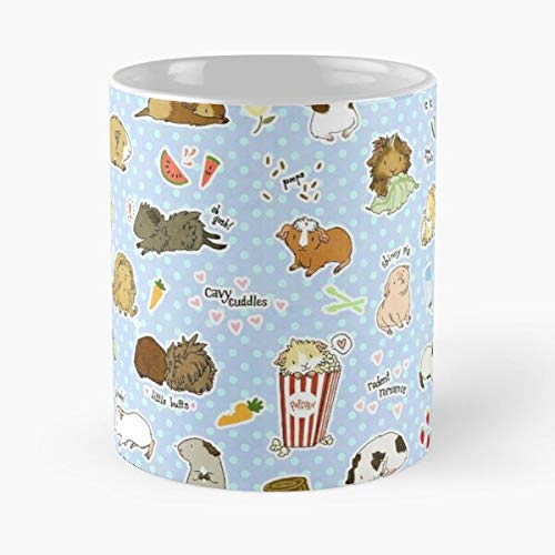 Pig Rodent Cavy Butts Little Skinny Guinea Cute Popcorn Animal - Best 11 Ounce Ceramic Mug - Classic Mug for Coffee, Tea, Chocolate or Latte