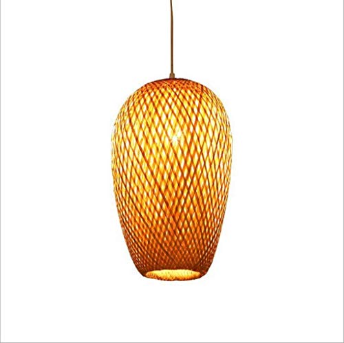 DFJU Lâmpada pingente de Bambu Artesanal Lustre de LED E27 Lanterna chinesa...