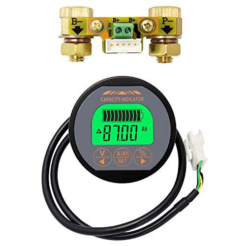 QWORK Battery Monitor Voltmeter Ammeter, Voltage Current Range 8V-80V, 0-100A Voltage Current Meter for Auto Car Motor Boat Caravan RV