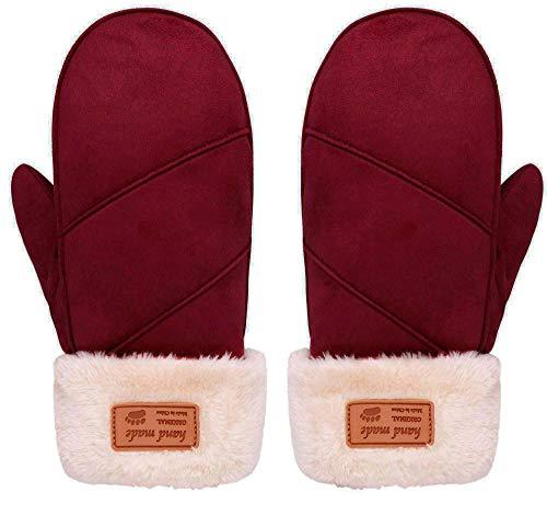 Arctic Paw Warm Black Faux Fur Running Mittens Women Winter Glove Mittens, Black