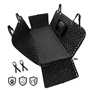 Winbate Dog Car Seat Cover with Storage Pocket (Mesh Window Optional), Dog Seat Cover Hammock with Side Flaps- 100% Wateproof HeavyDuty Scratchproof Nonslip Machine Washable Universal Fit
