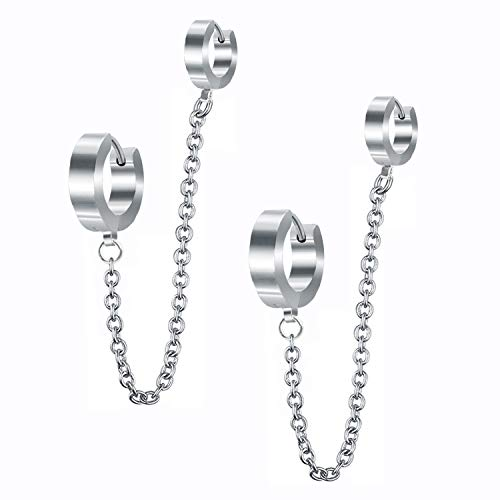 Stainless Steel Hoop Earrings for W…