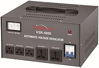 Simran 5000 Watt Step Up/Down Voltage Transformer Converter Box with Built-in Voltage Regulator for 110V-240V, Circuit Breaker Protection, VSR-5000
