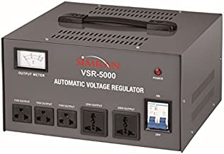 Simran 5000 Watt Step Up/Down Voltage Transformer Converter Box with Built-in Voltage Regulator for 110V-240V, Circuit Breaker Protection, VSR-5000