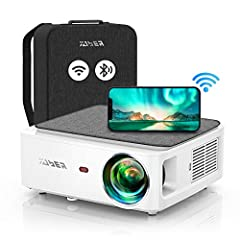 [7500 lux & real 1080p &extra carrying bag] With 7500lux,10000:1 high contrast, and 16:9/4:3 aspect ratio,yaber v6 is the smallest native 1080p projector on the market. More portable than other bulky 1080p projectors but offers a sharper, brighter an...