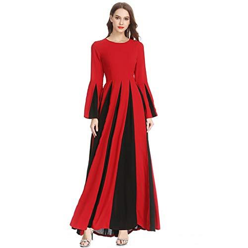 Hanomes Damen Frauen Muslim Abaya Dubai Muslimische Kleid Kleidung Kleider Arab Arabisch Indien Türkisch Casual Abendkleid Hochzeit Kaftan Robe